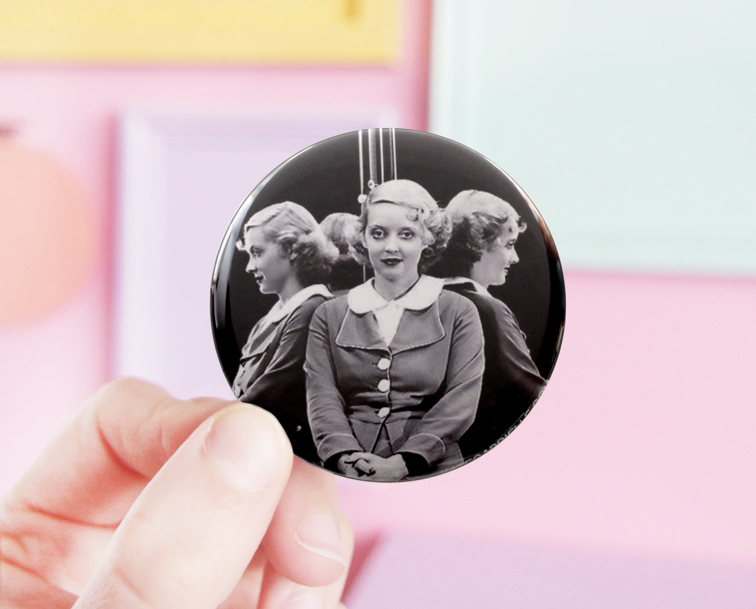 Bette Davis pocket mirror