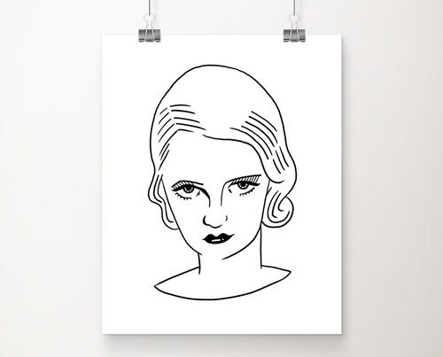 Blonde Bette art print