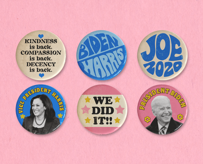 Biden 2020 button set