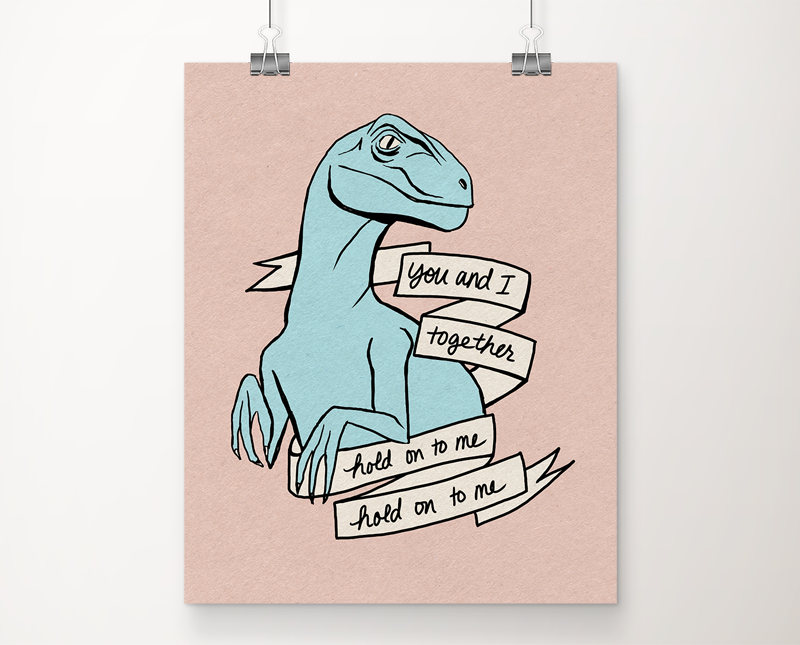 Jurassic World Blue art print