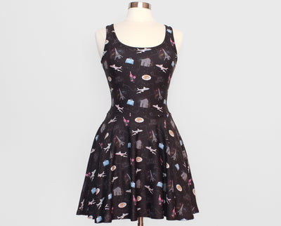 Bon Voyage Skater Dress