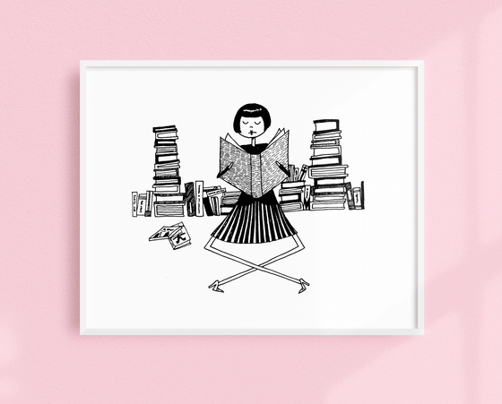 Book Lover art print