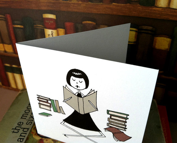 Printable bookworm note cards