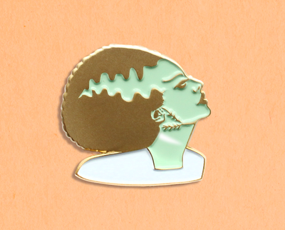 Bride of Frankenstein enamel lapel pin
