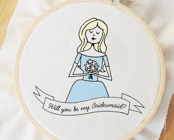 Bridesmaid embroidery pattern
