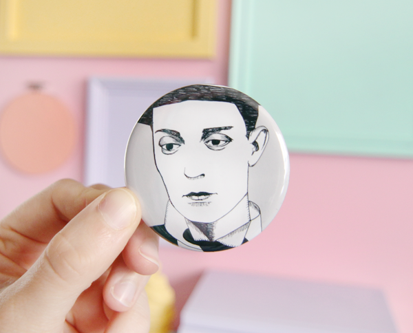 Buster Keaton pocket mirror