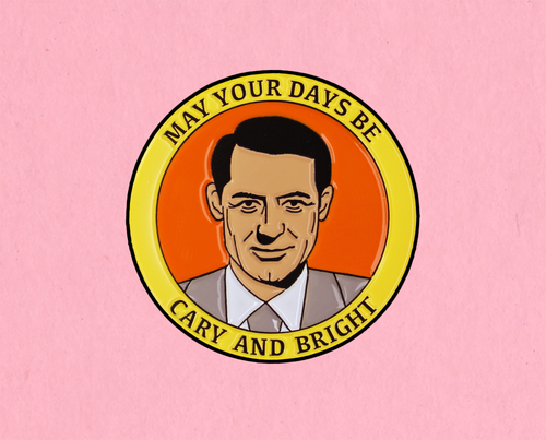 Cary and Bright enamel lapel pin