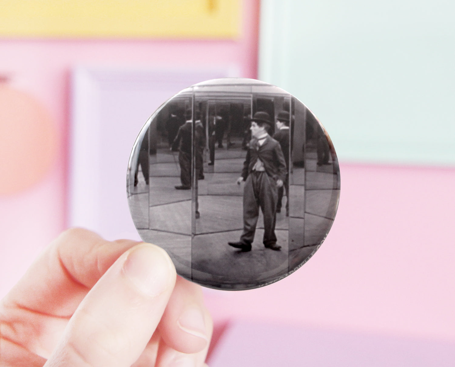 Charlie Chaplin pocket mirror