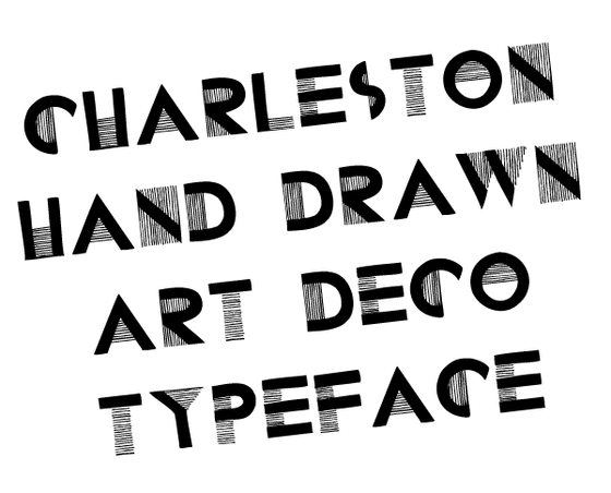 Charleston hand drawn font