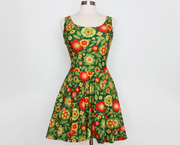 Christmas retro floral skater dress
