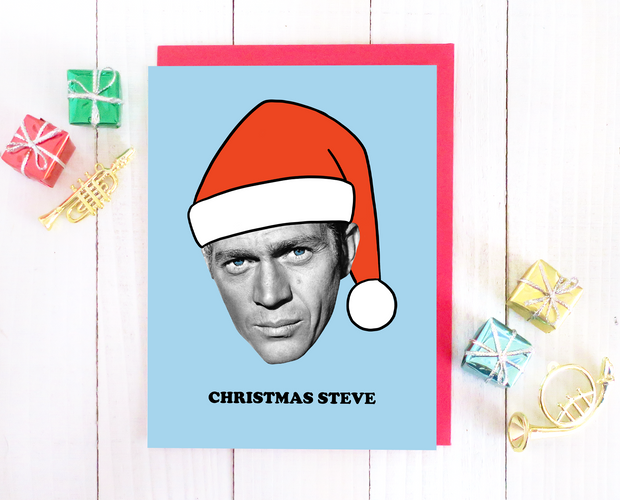 Christmas Steve Christmas card set