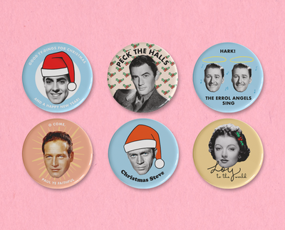 Classic Movie Christmas button set #4