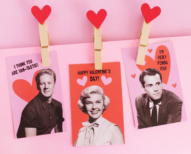 Fold and tear classic movie valentines