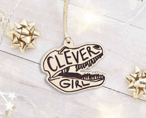 Clever Girl Christmas ornament