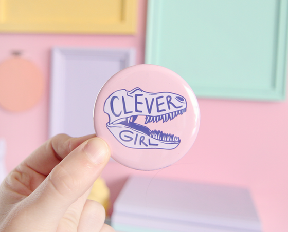 Clever Girl pocket mirror