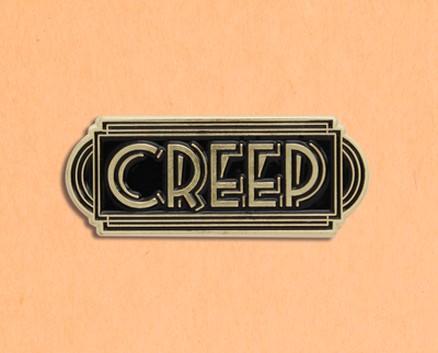 Creep enamel lapel pin
