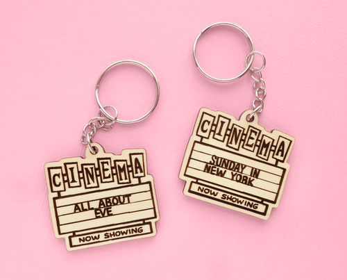 Custom cinema marquee keychain