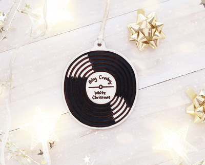 Custom music record Christmas ornament