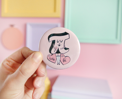 Cutie Pi pocket mirror