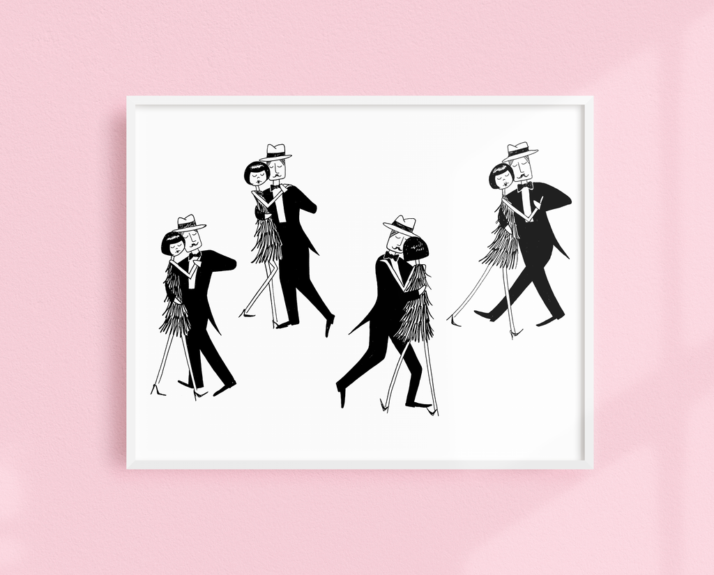 Eloise swept him off his feet art print