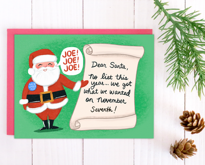 Dear Santa Christmas card