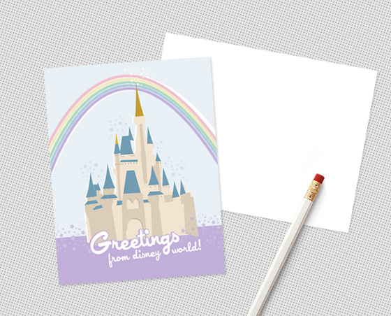 Disney World postcard set