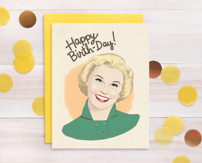 Doris Day birthday card