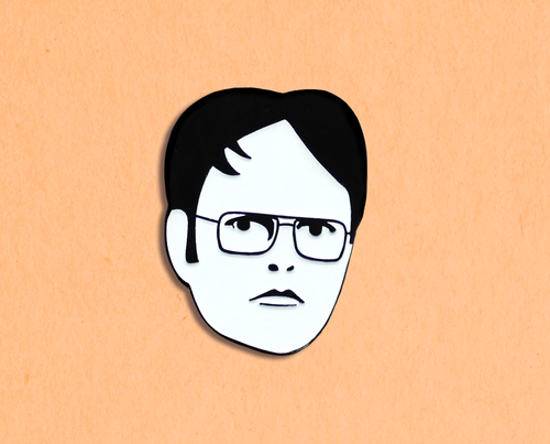 Dwight Schrute enamel lapel pin
