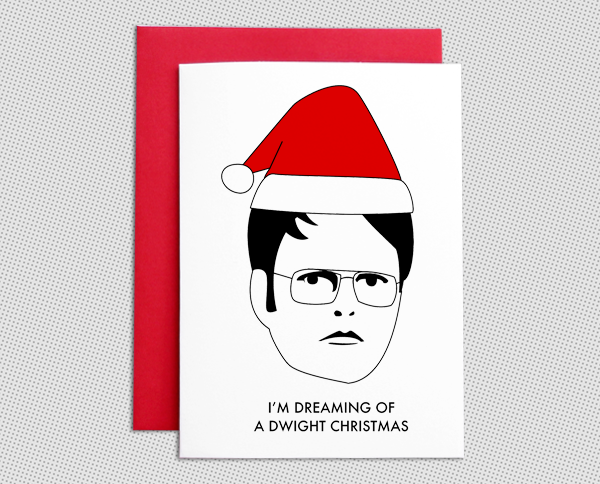 Dwight Christmas.Dwight Schrute Christmas Card Set