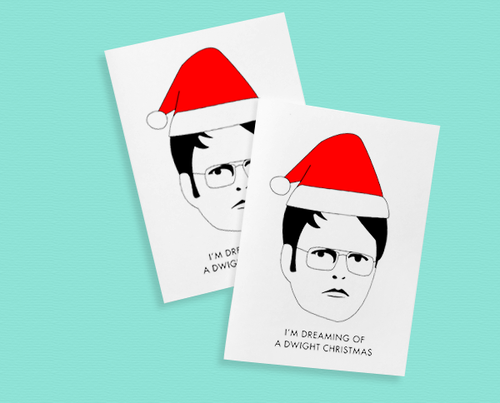 Printable Dwight Schrute Christmas cards