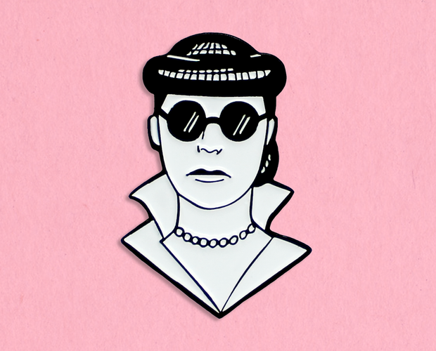 Edith Head enamel lapel pin