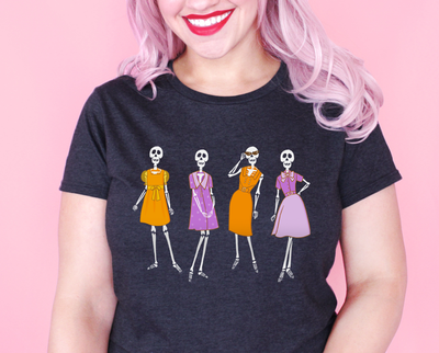 Fashionable skeletons t-shirt