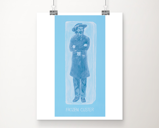 Frozen Custer art print