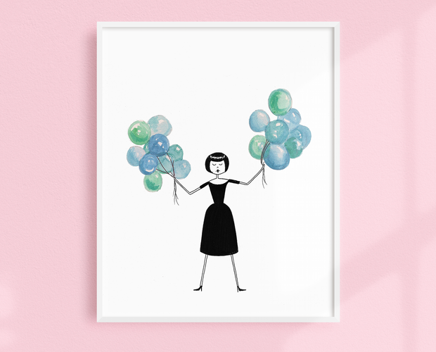 Audrey Hepburn in Funny Face art print