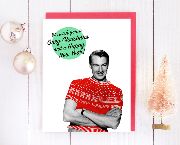 We wish you a Gary Christmas card set