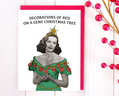 Decorations of Gene Christmas card set