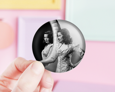 Gene Tierney pocket mirror