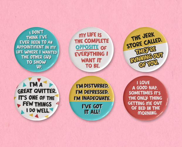 George Costanza button or magnet set