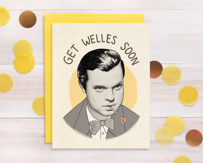 Orson Welles Get Well Soon greeting card