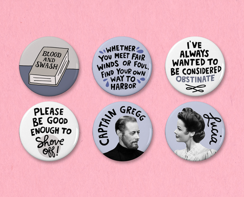 The Ghost and Mrs. Muir button or magnet set