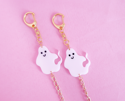 Halloween ghosts face mask chain