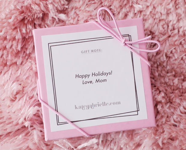 Add gift wrap & gift note to your order