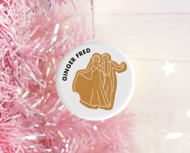 Ginger Fred Christmas ornament
