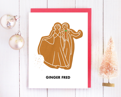 Ginger Fred Christmas card