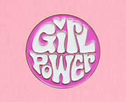 Girl Power enamel lapel pin