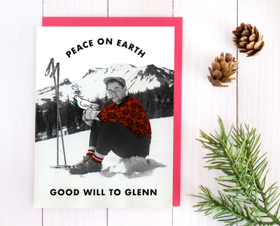 Good will to Glenn Christmas card
