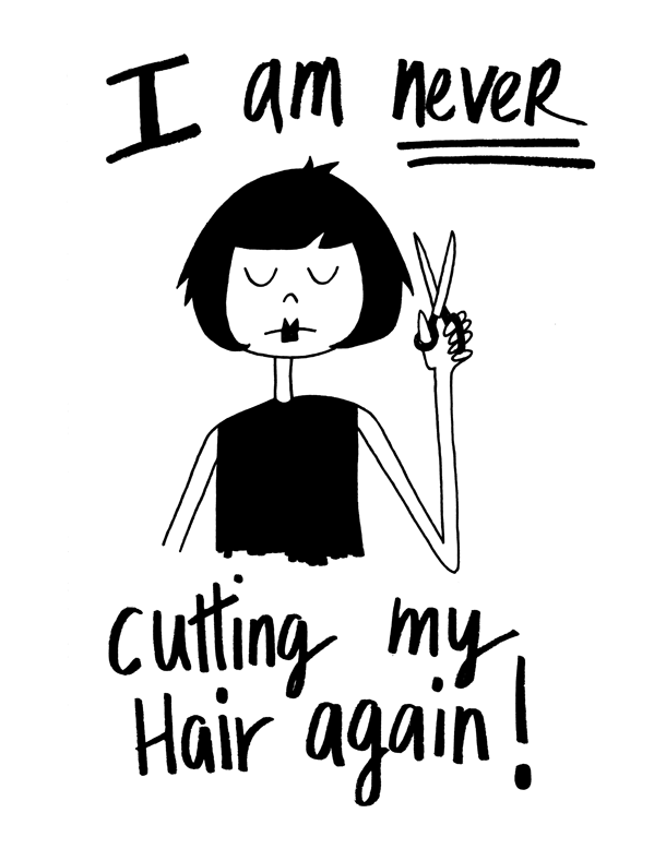 I Am Never Cutting My Hair Again art print