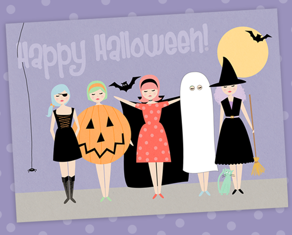 photograph relating to Printable Halloween Cards titled Printable Halloween card