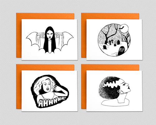 Halloween note card set