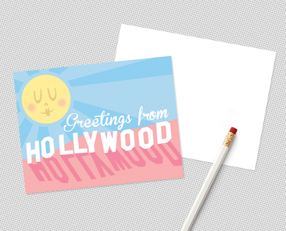 Hollywood postcard set